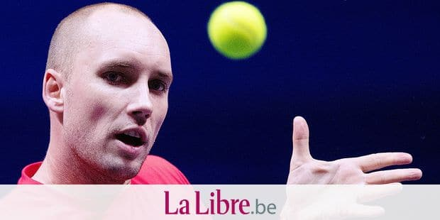 Belgian Steve Darcis pictured at a training ahead of the Davis Cup World Group final between France and Belgium, Thursday 23 November 2017, in Villeneuve-d'Ascq. The Davis Cup game will be played from 24 to 26 November 2017 in stade Pierre-Mauroy in Lille, France. BELGA PHOTO BENOIT DOPPAGNE