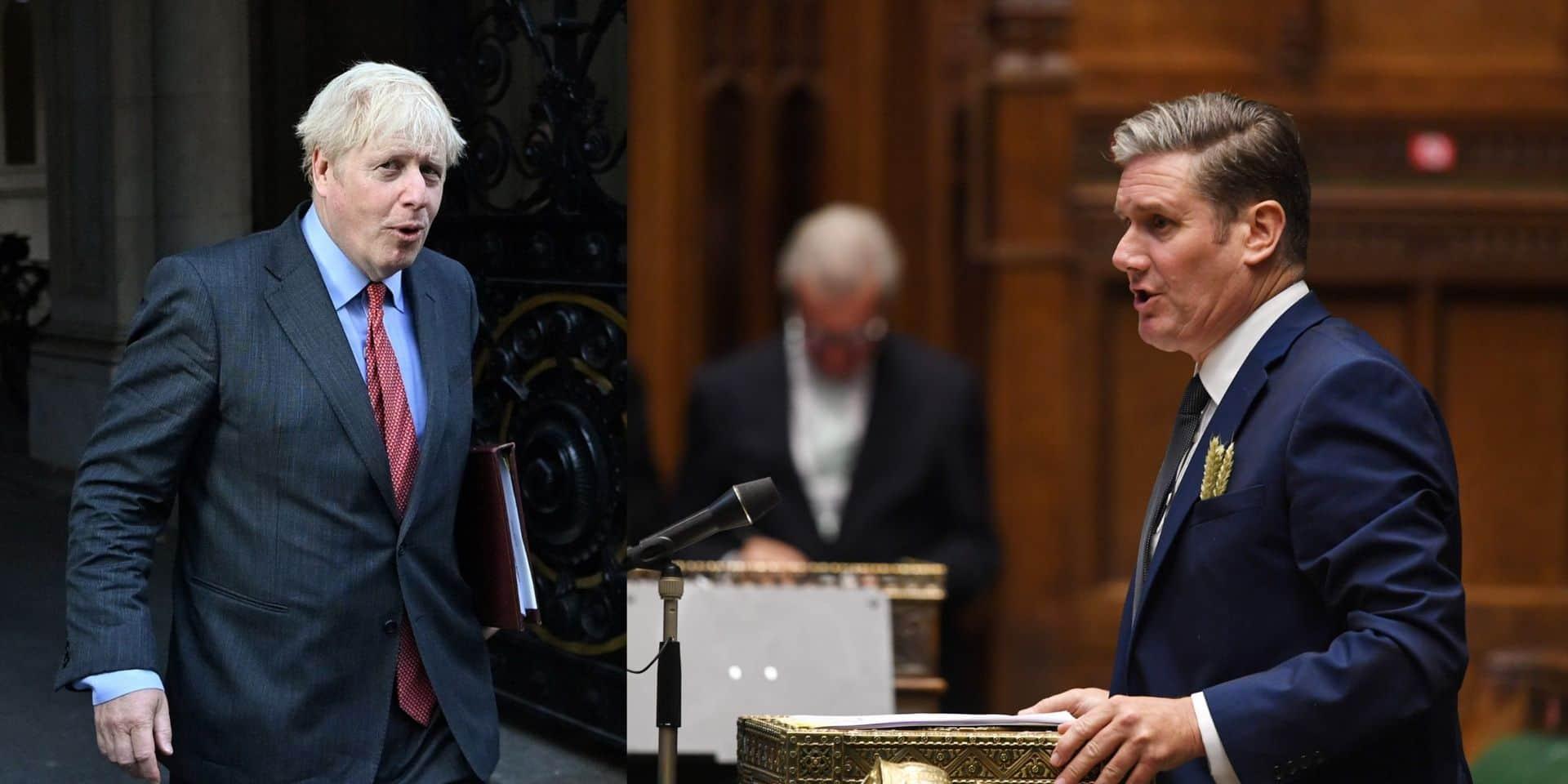 """Le leader de l'opposition travailliste britannique étrille """"l'incompétence"""" de Boris Johnson : """"Il n'est simplement pas à la hauteur du job"""""""