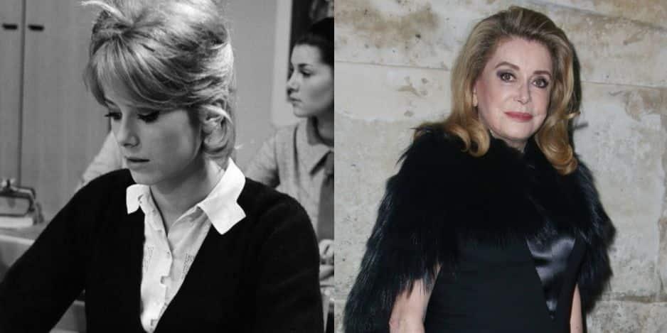 Catherine Deneuve dans Les Parisiennes (1961). Elle avait 18 ans. Aujourd'hui, à l'âge de 74 ans.