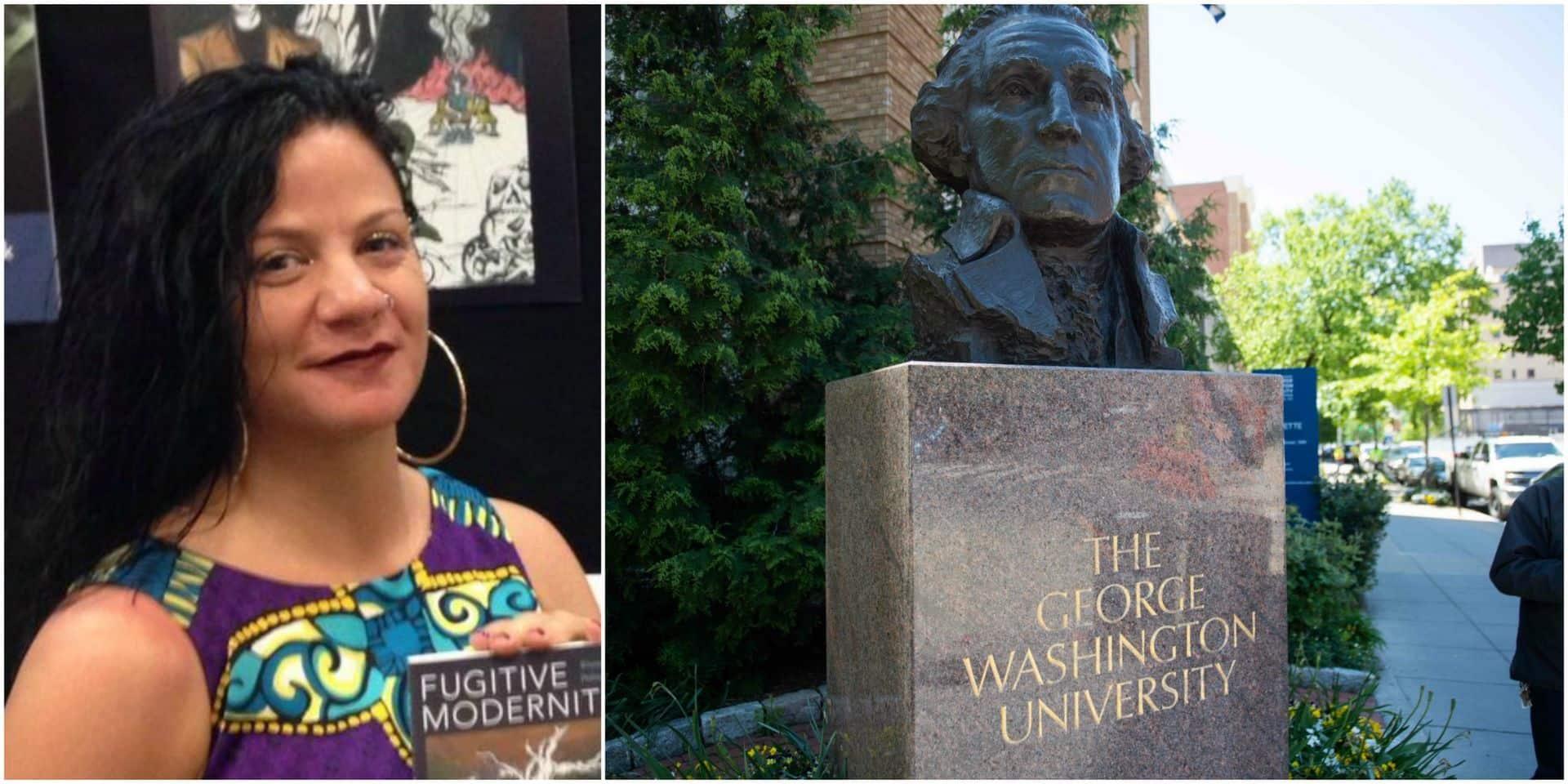 Une enseignante de l'université George Washington qui se disait noire admet être blanche