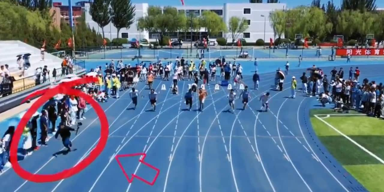 Un cameraman chargé de filmer une course... va plus vite que les sprinteurs (VIDEO)