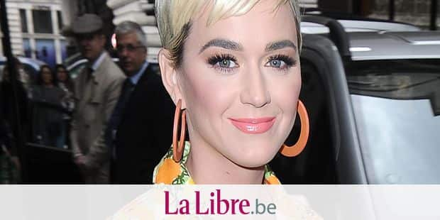 Katy Perry leaving her hotel in a floral jumpsuit 1 May 2019. Please byline: Will/Vantagenews.com Reporters / VantageNews