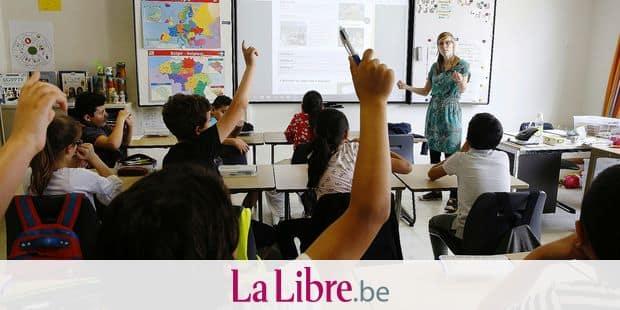 Illustration picture shows the Imelda primary school in Sint-Jans-Molenbeek - Molenbeek-Saint-Jean, Brussels, Thursday 31 May 2018. BELGA PHOTO NICOLAS MAETERLINCK