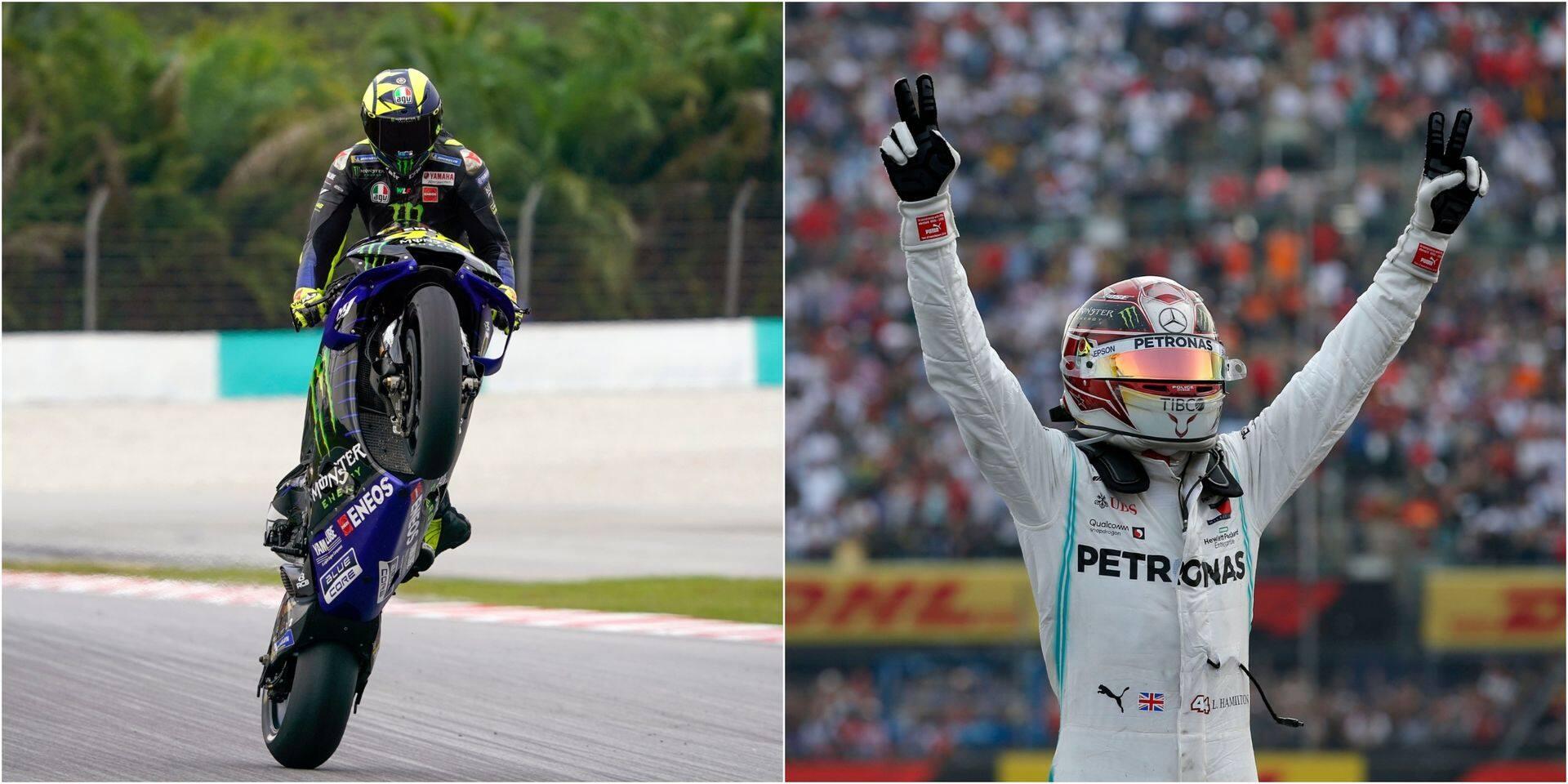 Rossi et Hamilton vont échanger leurs machines