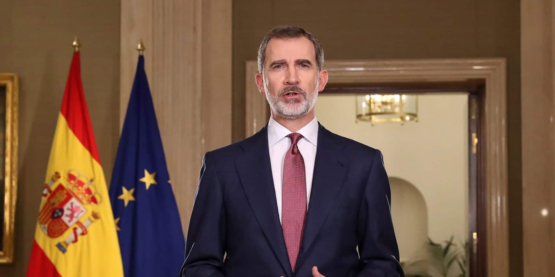 Le roi Felipe VI appelle l'Espagne à l'unité face au coronavirus
