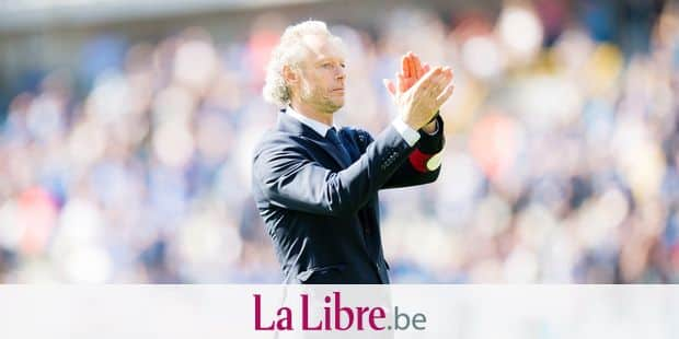 Club's head coach Michel Preud'homme celebrates after winning the Jupiler Pro League match between Club Brugge and KAA Gent, in Brugge, Sunday 21 May 2017, on the last day of the Play-off 1 of the Belgian soccer championship. BELGA PHOTO JASPER JACOBS