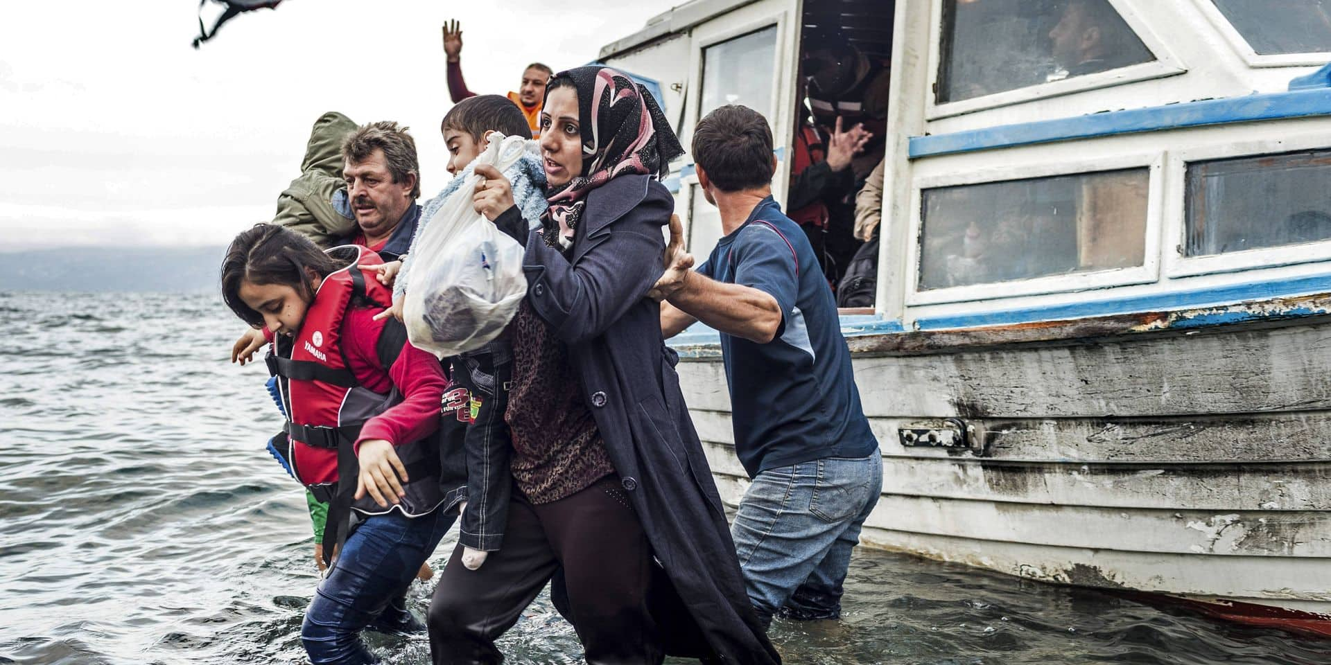 Refugees and migrants arriving on island of Lesbos, Greece GRIECHENLAND, 09.2015, Insel /Island of/ Lesbos. Internation