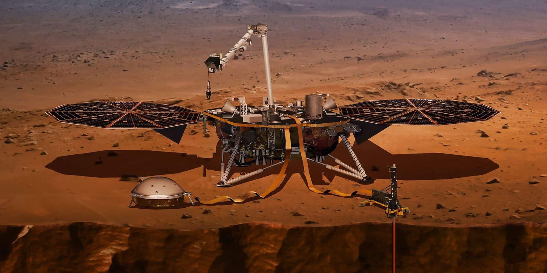 La sonde InSight donne des nouvelles depuis Mars
