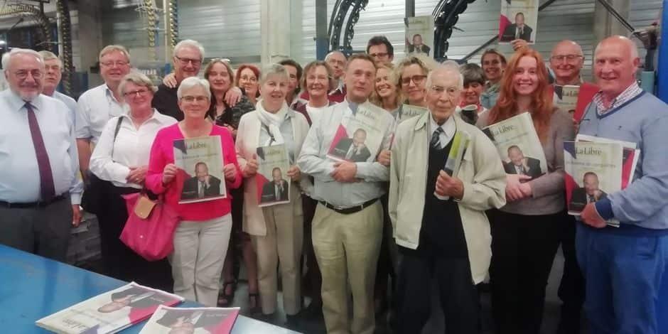 Des lecteurs en visite dans les coulisses du journal et de l'imprimerie de La Libre