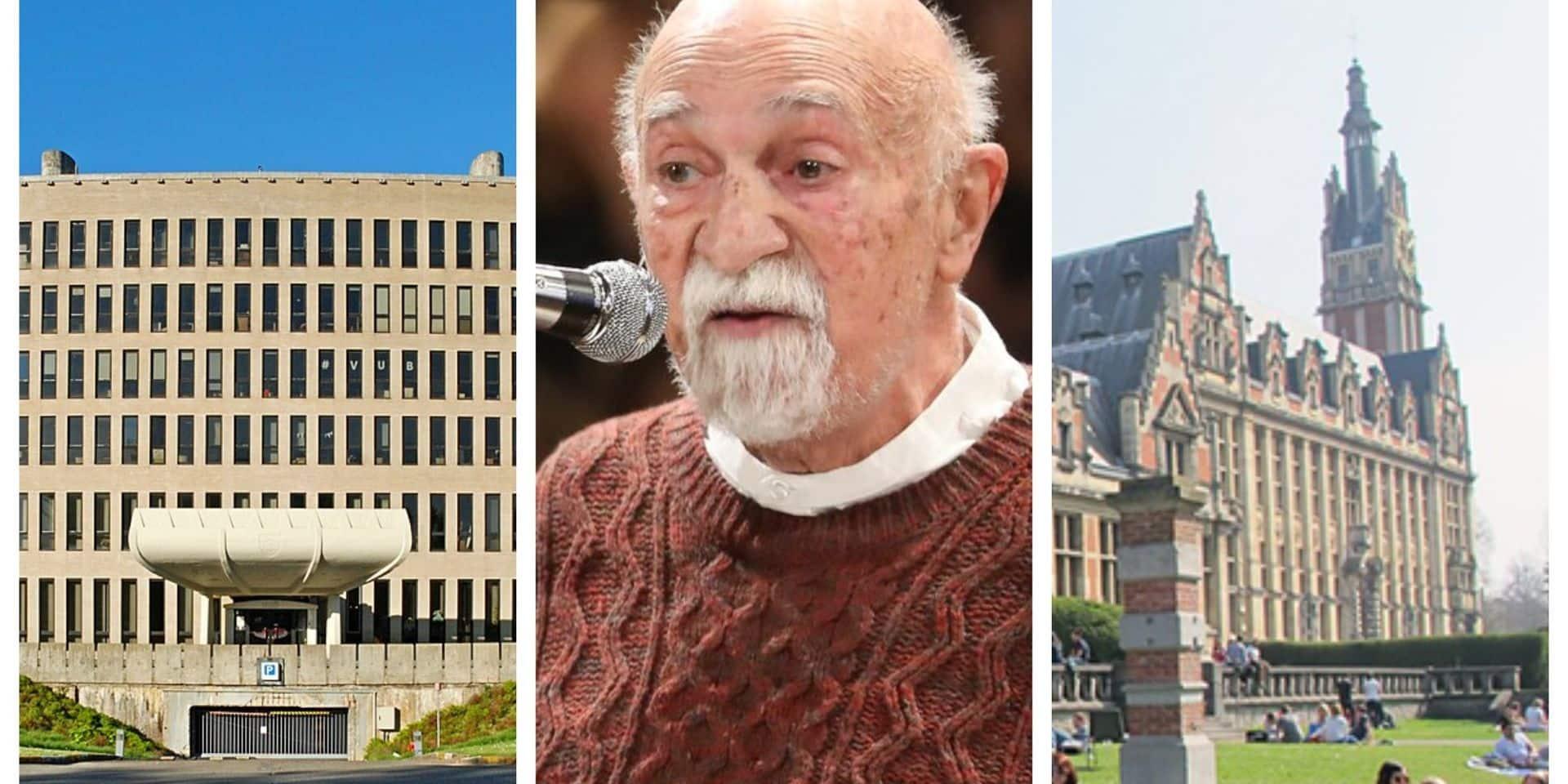 Les docteurs honoris causa de la VUB et de l'ULB : une amitié symbole d'espoir et de paix