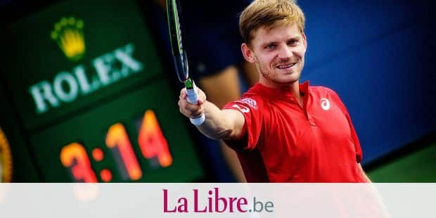 Belgian David Goffin celebrates after winning a tennis match between Belgian David Goffin (ATP 15) and Spanish Pable Carreno Busta (ATP 69), in the third round of the Men's Singles of the US Open Grand Slam tennis tournament, at Flushing Meadow, in New York City, USA, Friday 30 August 2019. BELGA PHOTO YORICK JANSENS