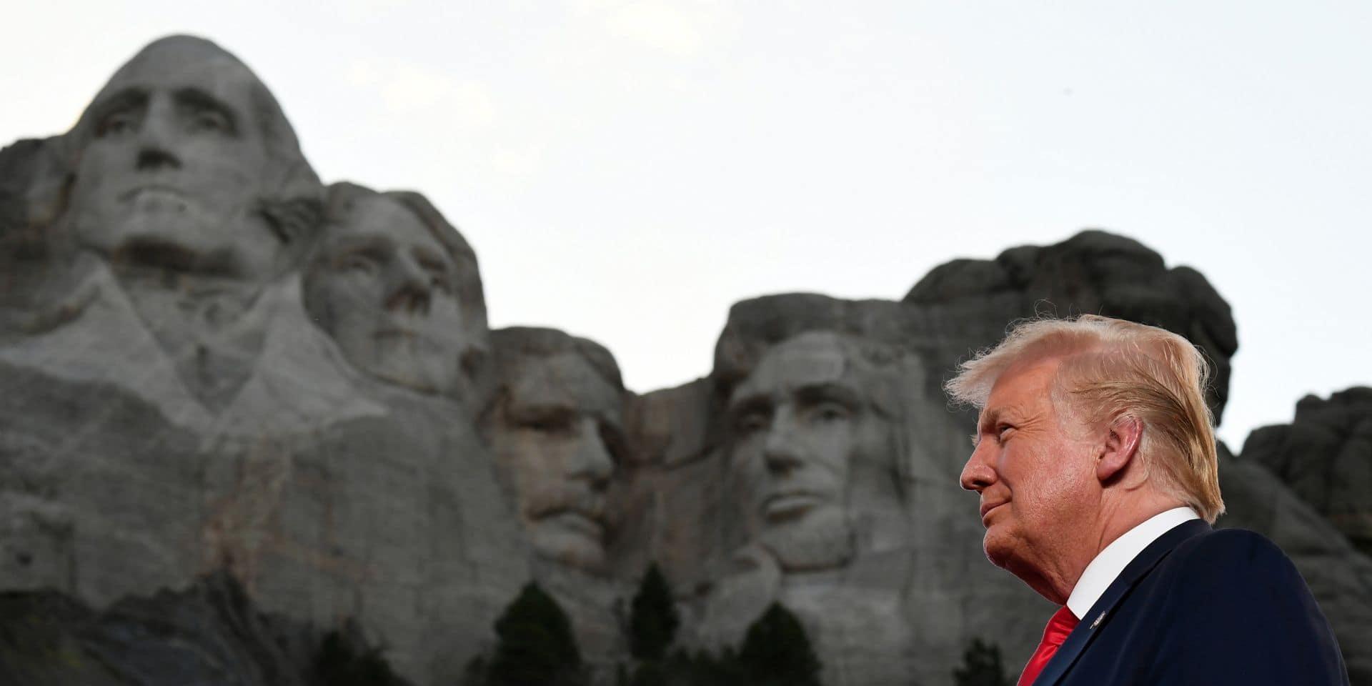 """Trump vante une Amérique """"forte"""" et """"fière""""... sans aborder le rebond spectaculaire de l'épidémie"""