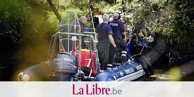 Illustration picture shows searchings for a 15 year old boy who went missing in the Ourthe river yesterday, in Liege, Thursday 01 August 2019. The boy and his friends were playing in the river around 16h00 when he slipped, the initial searchings were stopped in the evening. BELGA PHOTO ERIC LALMAND