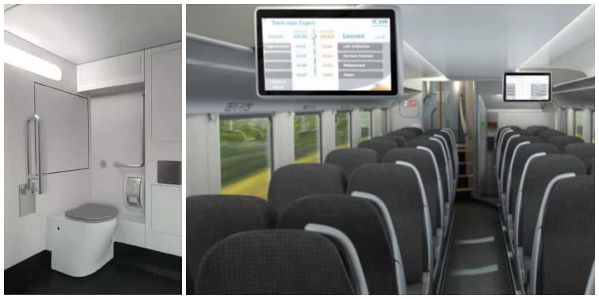 Les nouveaux trains tout confort de la SNCB débarquent en janvier après plus d'un an de retard: découvrez-les en images