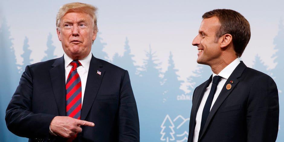 """Trump à Macron : """"Pourquoi ne sortez-vous pas de l'Union européenne ?"""""""
