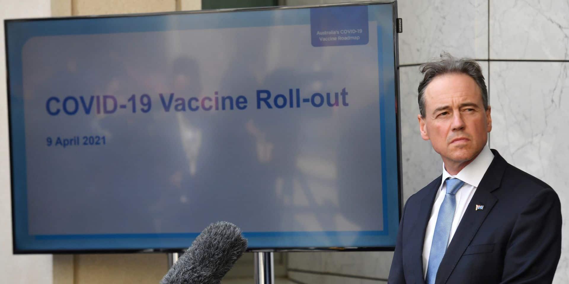 Le ministre australien de la Santé, Greg Hunt.