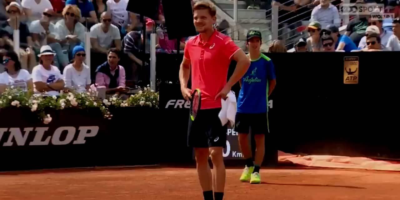 ATP Rome: Petite tension entre David Goffin et l'arbitre de chaise (VIDEO)