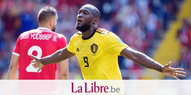 goalie Romelu LUKAKU (BEL) cheers on the goal to make it 2-0 for Belgium, jubilation, cheering, cheering, joy, cheers, celebrate, goaljubel, half figure, half figure, gesture, gesture, Belgium (BEL) - Tunisia (TUN) 5 : 2, Preliminary Round, Group G, Game 29, on 23.06.2018 in Moscow; Football World Cup 2018 in Russia from 14.06. - 15.07.2018. | usage worldwide Reporters / DPA
