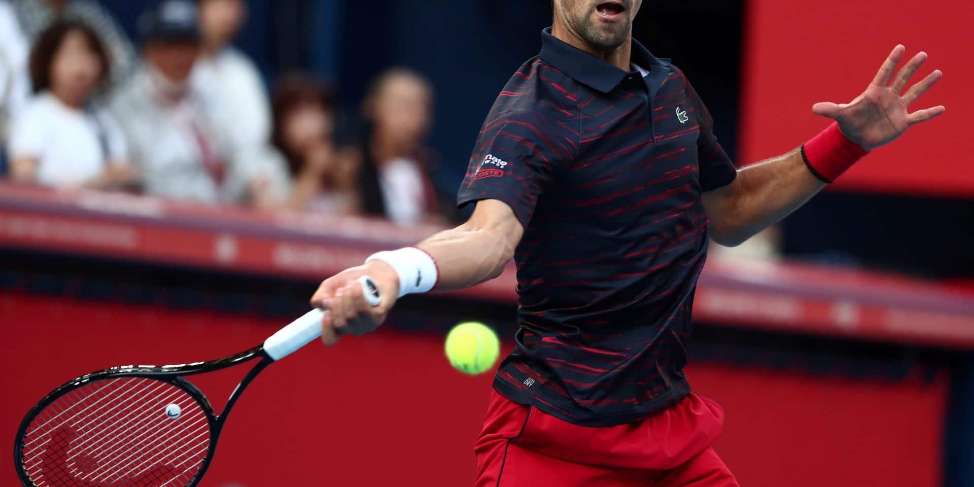 Novak Djokovic s'impose à Tokyo pour son retour de blessure