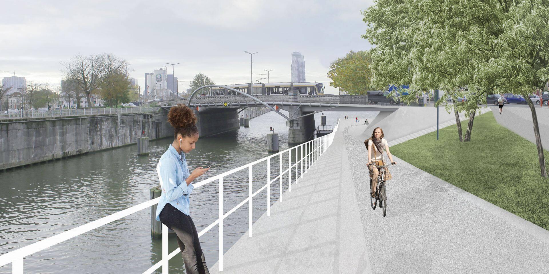Gijs Van Vaerenbergh désigné pour la conception des trois passerelles cyclo-piétonnes le long du canal