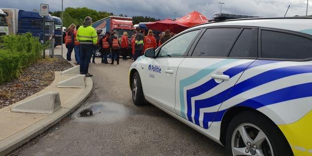 Grève chez Lidl - La police enquête sur la bagarre entre des grévistes et un camionneur - La Libre