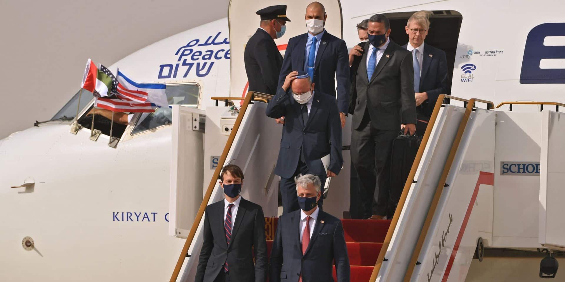 Une délégation israélo-américaine atterrit à Abou Dhabi après un vol historique