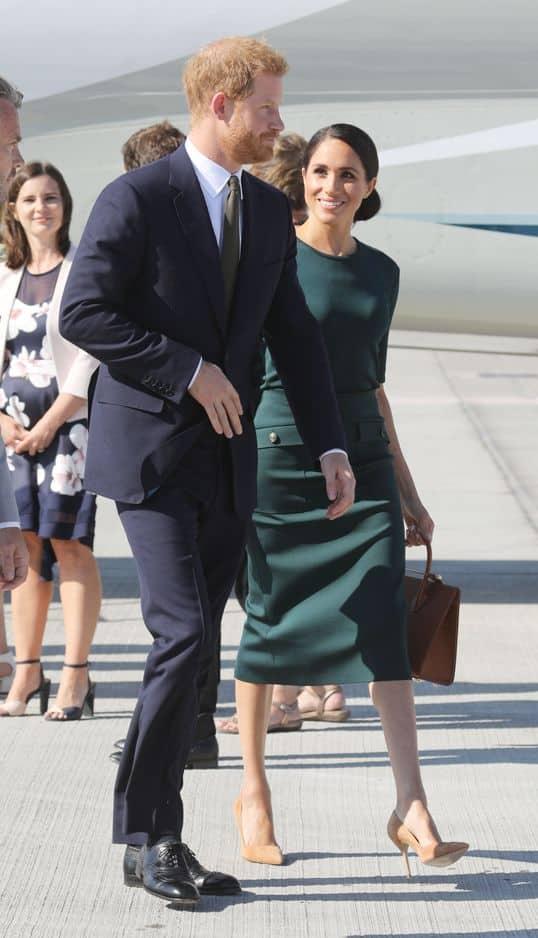 Meghan Markle et le prince Harry ont atterri à l'aéroport de Dublin le 10 juillet.