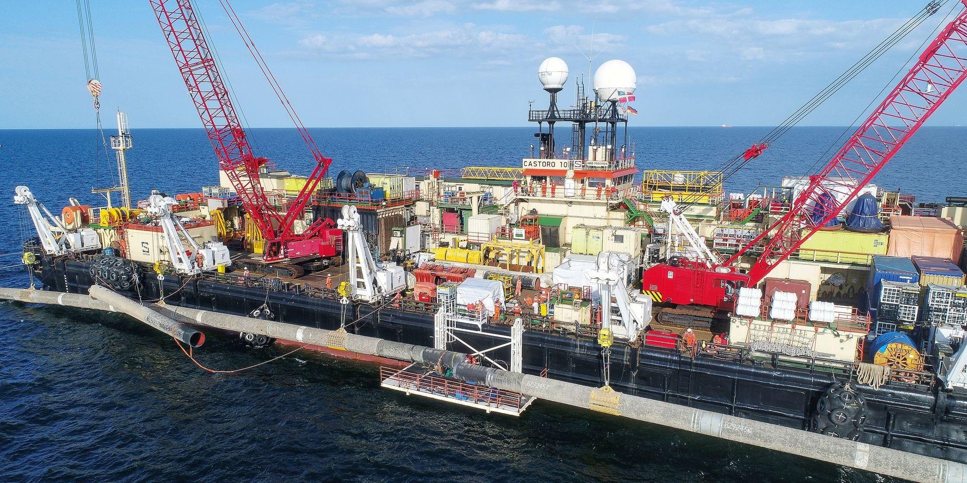 Sur le chantier du gazoduc controversé Nord Stream 2