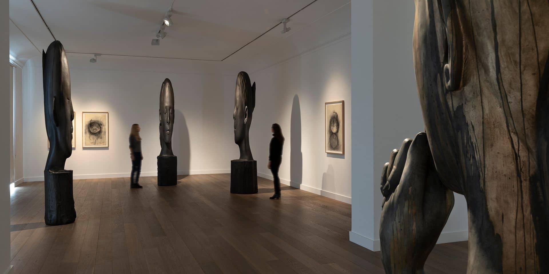 Des ouvres de l'artiste catalan Jaume Plensa