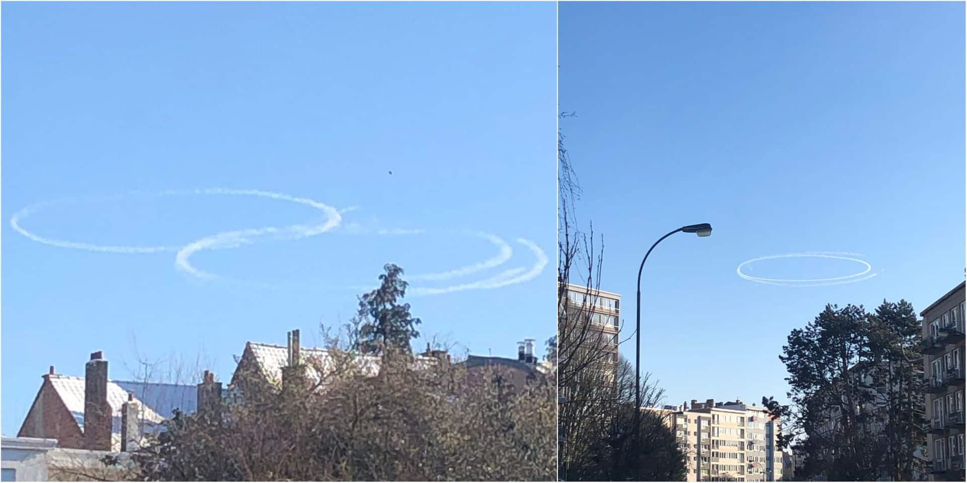 D'où viennent ces mystérieux cercles apparus dans le ciel belge ce mardi ?