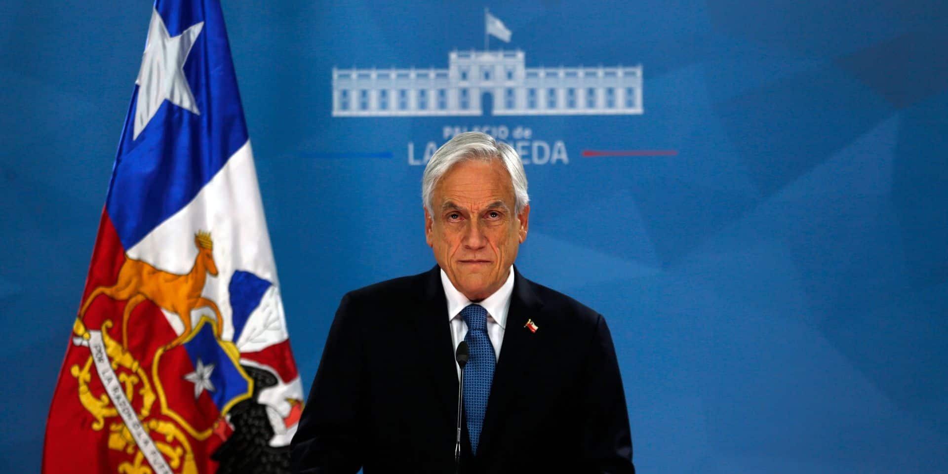 Chili: le président chilien Piñera annonce une prime à un million de familles