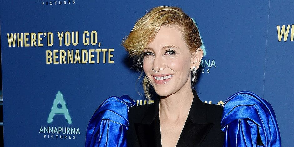 "NEW YORK, NEW YORK - AUGUST 12: Cate Blanchett attends the ""Where'd You Go, Bernadette"" New York Screening at Metrograph on August 12, 2019 in New York City. Jamie McCarthy/Getty Images/AFP == FOR NEWSPAPERS, INTERNET, TELCOS & TELEVISION USE ONLY =="