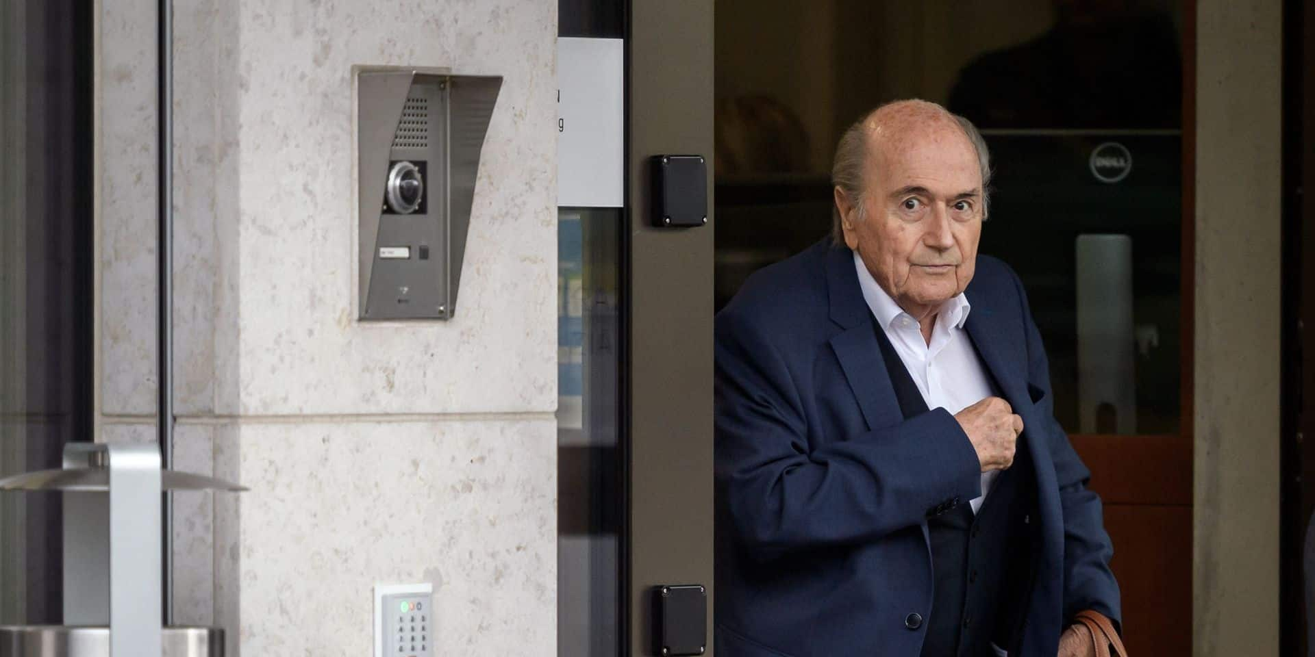La justice suisse auditionne Sepp Blatter, accusé de corruption à la FIFA