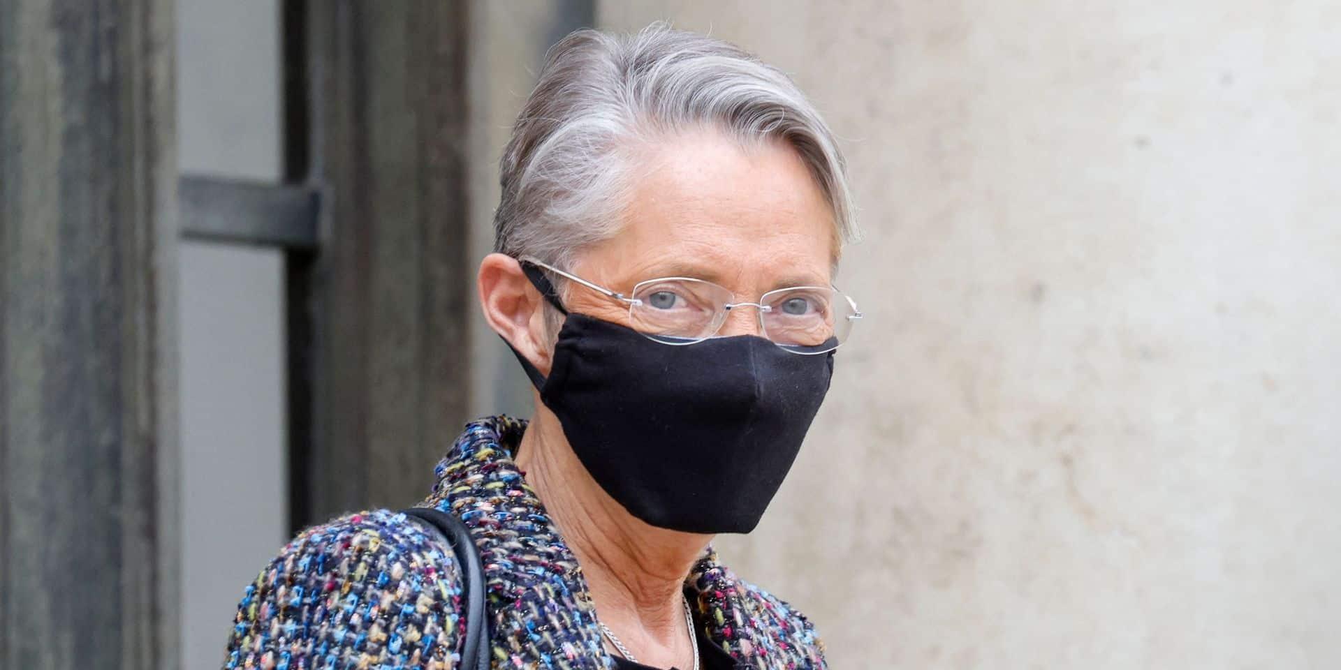 """La ministre du travail française Elisabeth Borne, positive au Covid-19, a été hospitalisée : son état de santé """"en voie d'amélioration"""""""