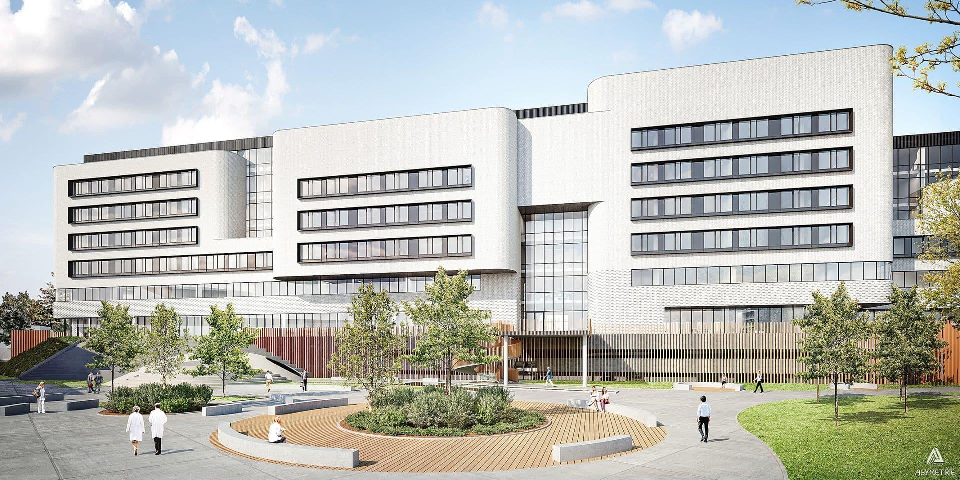 """Le Biopark de Gosselies va se transformer, d'ici 2024, en véritable campus dédié aux biotechnologies. Avec, en son centre, le """"Biotech 5"""" d'une superficie de 24600 m2."""