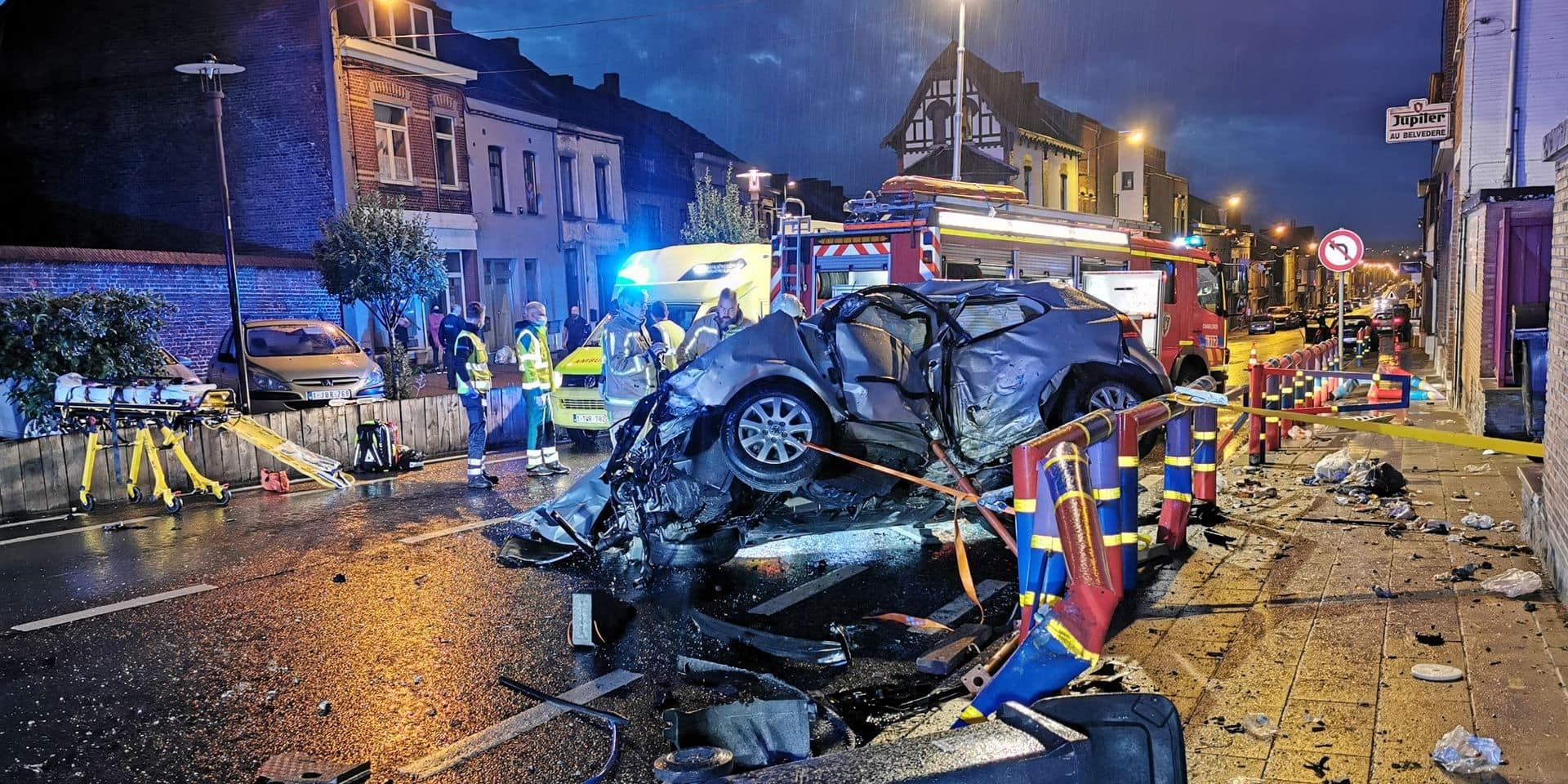 Dramatique accident avec un mort et deux blessés graves sur la rue du Général de Gaulle à Courcelles