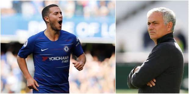 """José Mourinho encense Hazard: """"Quand il est le meilleur joueur de Premier League, Chelsea est champion"""" - La Libre"""