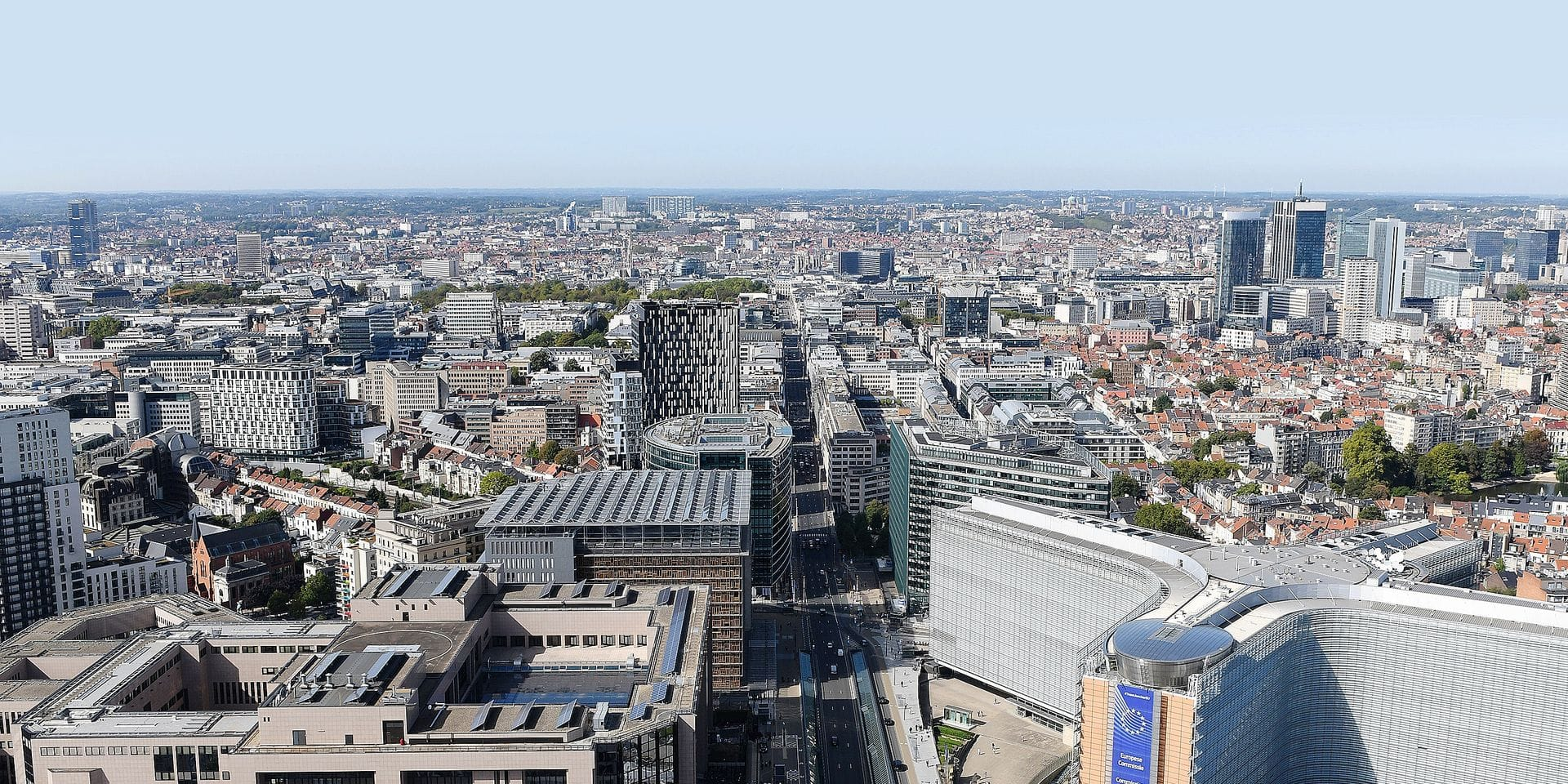 Aerial Views of Brussels