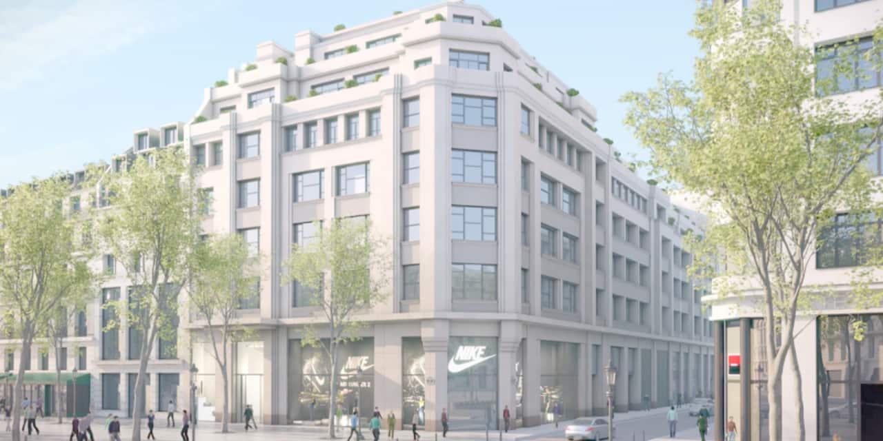 Vendu pour 613 millions d'euros, voici le nouveau siège européen de Nike sur les Champs-Elysées