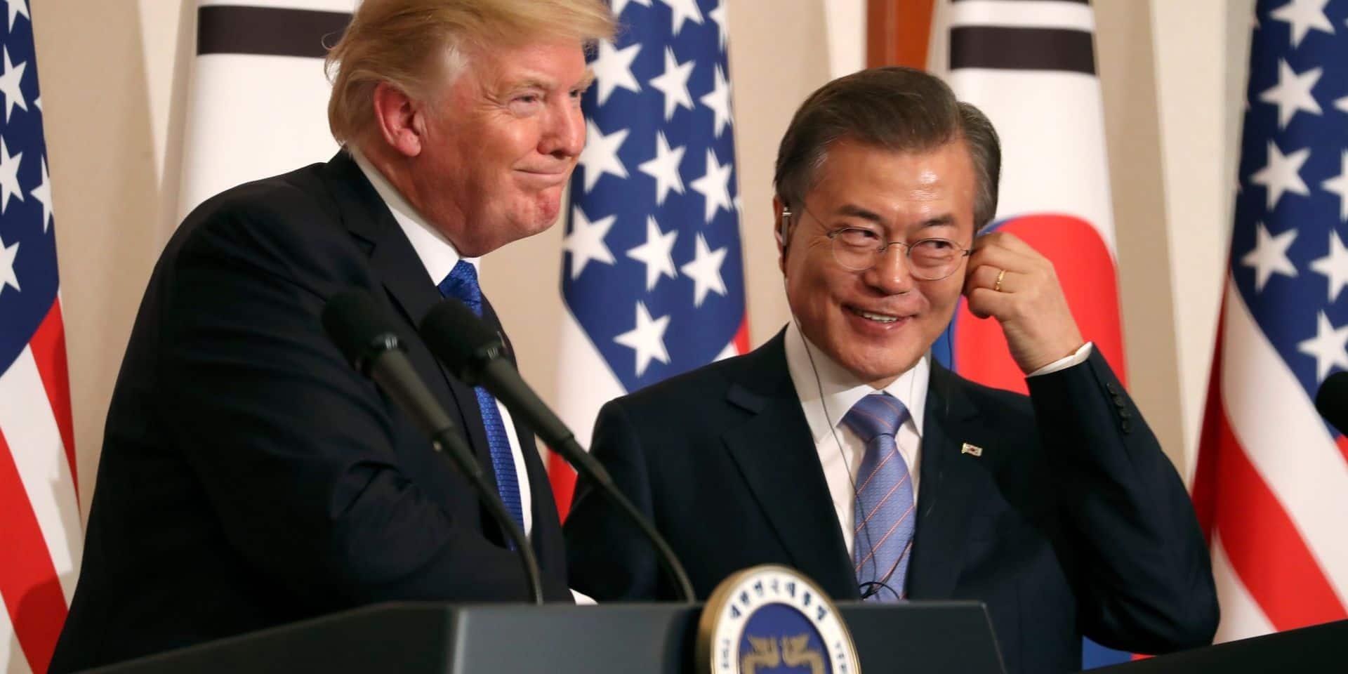 Trump reçoit Moon, le sommet avec Kim Jong Un en question