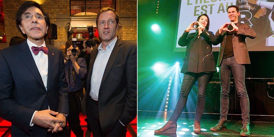 Le PS et Écolo se disputent le leadership en Wallonie et à Bruxelles, le MR chute