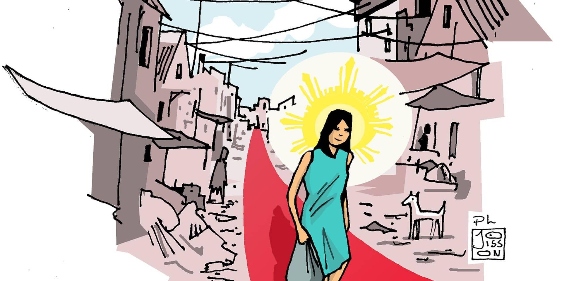 """À Manille, les """"petites princesses"""" des bidonvilles offrent une leçon de vie"""
