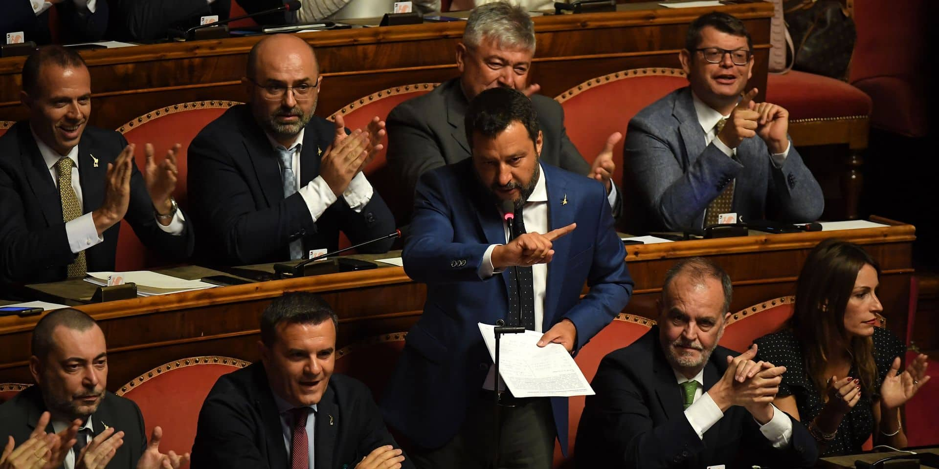 ITALY ROME SALVINI GOVERNMENT CRISIS