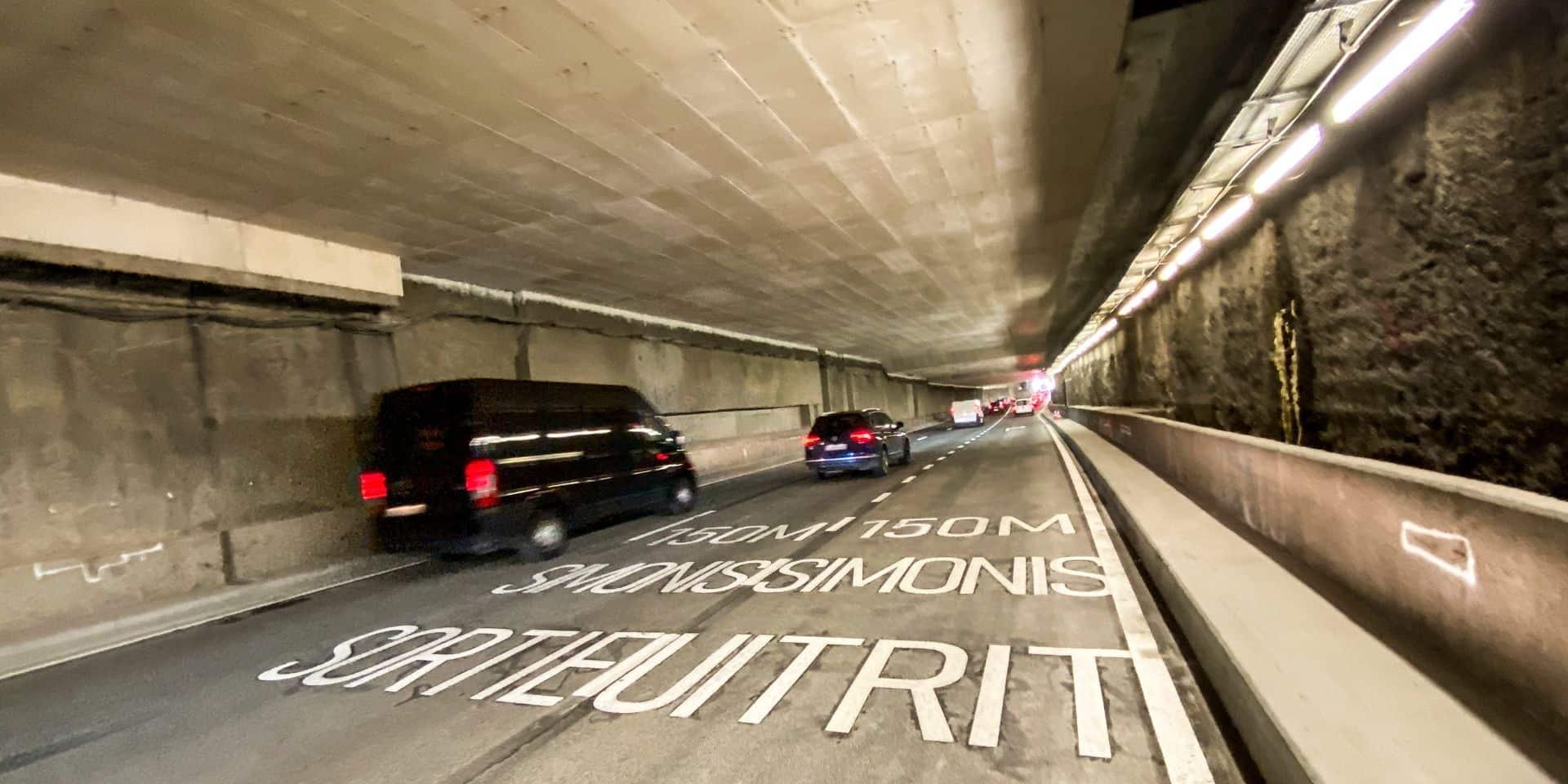Le tunnel Léopold II partiellement fermé à cause du crash d'une chauffarde alcoolisée et sans permis