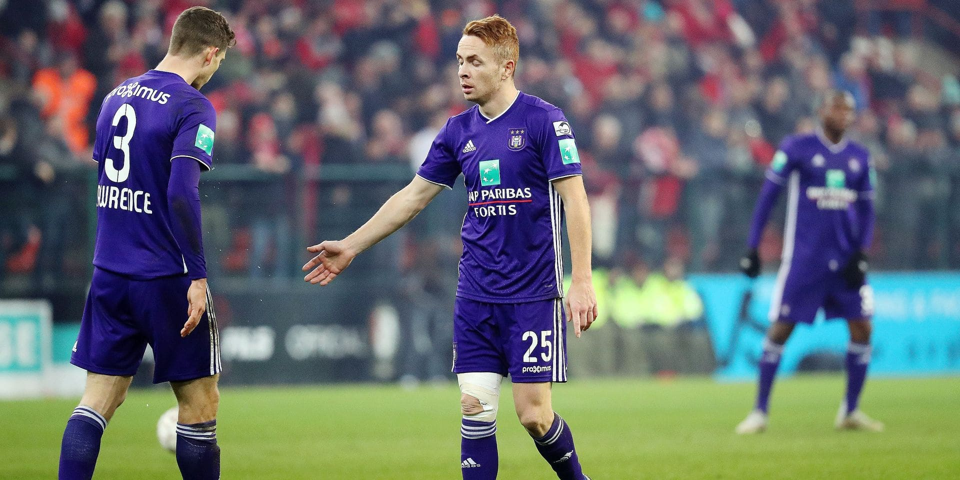 Anderlecht's Adrien Trebel looks dejected after a soccer game between Standard de Liege and RSC Anderlecht, Sunday 03 February 2019 in Liege, on the 24th of the 'Jupiler Pro League' Belgian soccer championship season 2018-2019. BELGA PHOTO VIRGINIE LEFOUR
