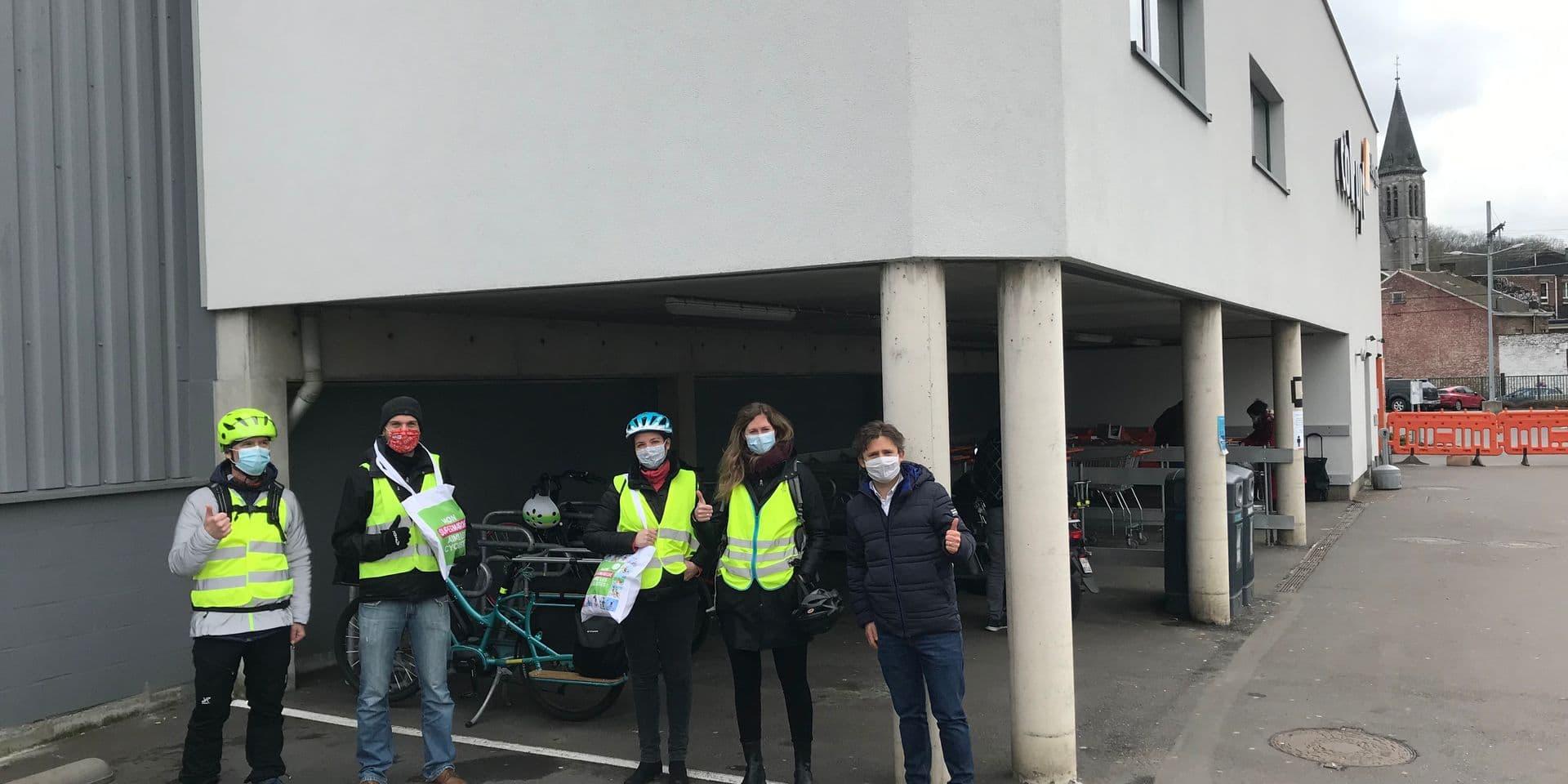 Assez peu de supermarchés liégeois vélo-compatibles