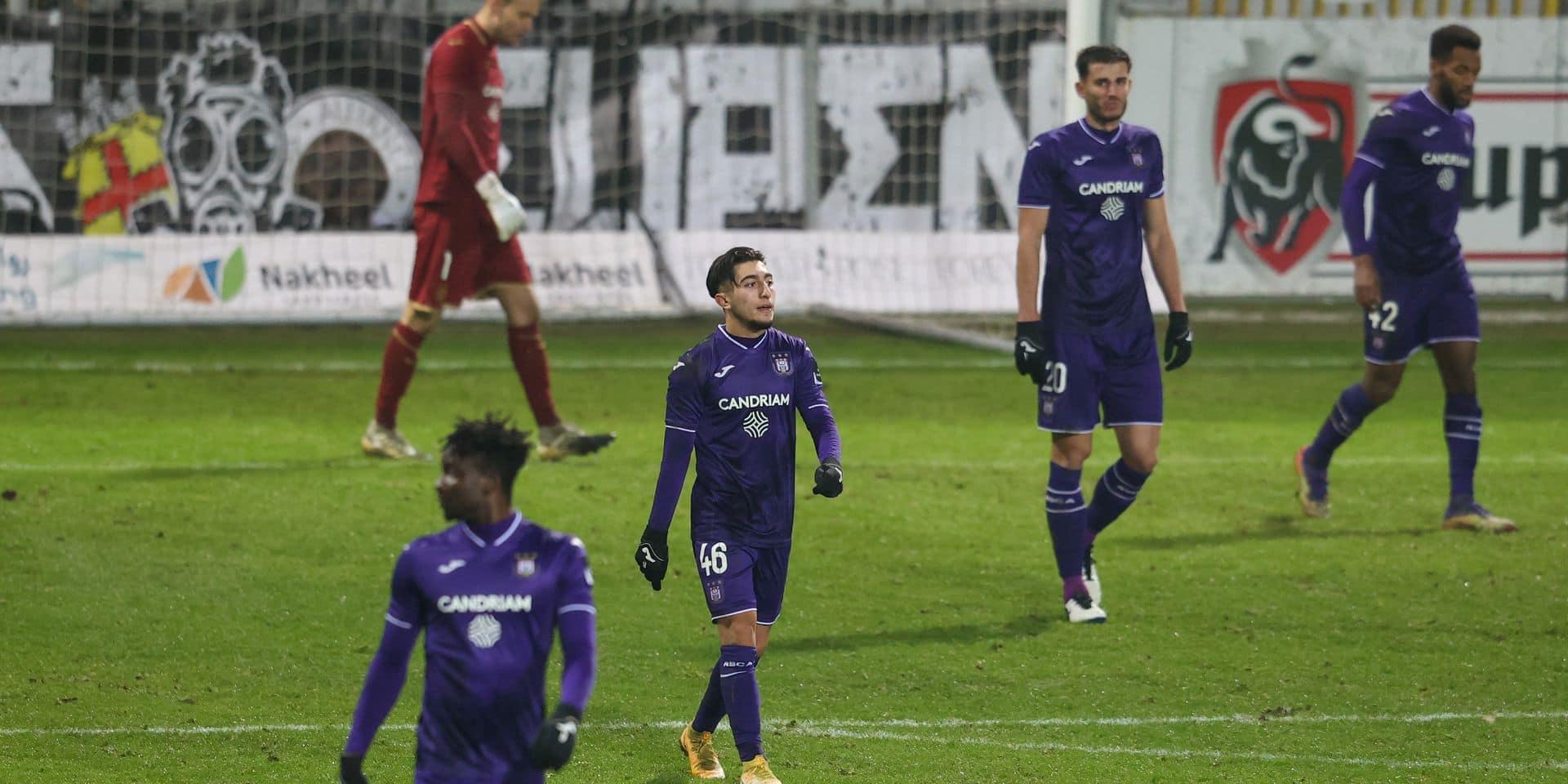 Pas de but, pas de point mais une grosse colère après la défaite d'Anderlecht à Eupen