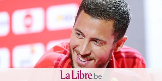 Belgium's Eden Hazard pictured during a press contact with some players of the Belgian national soccer team Red Devils, Sunday 10 June 2018, in Tubize. The Red Devils started their preparations for the upcoming FIFA World Cup 2018 in Russia. BELGA PHOTO BRUNO FAHY
