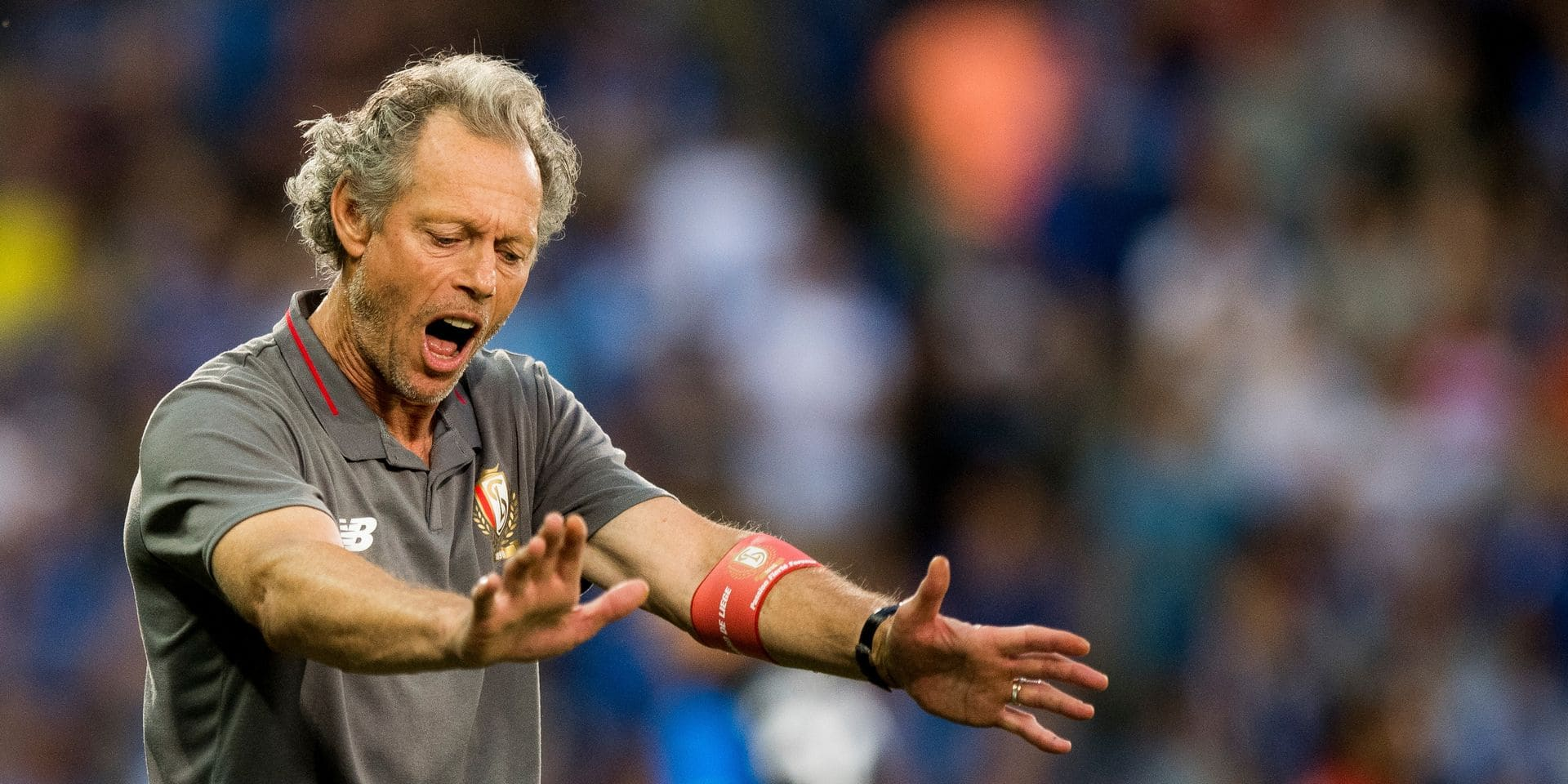 Standard's head coach Michel Preud'homme reacts during a soccer game between Club Brugge and Standard de Liege, the supercup match between the respective champion of the Jupiler Pro League and the Belgian cup winner, Sunday 22 July 2018, in Brugge. BELGA PHOTO JASPER JACOBS