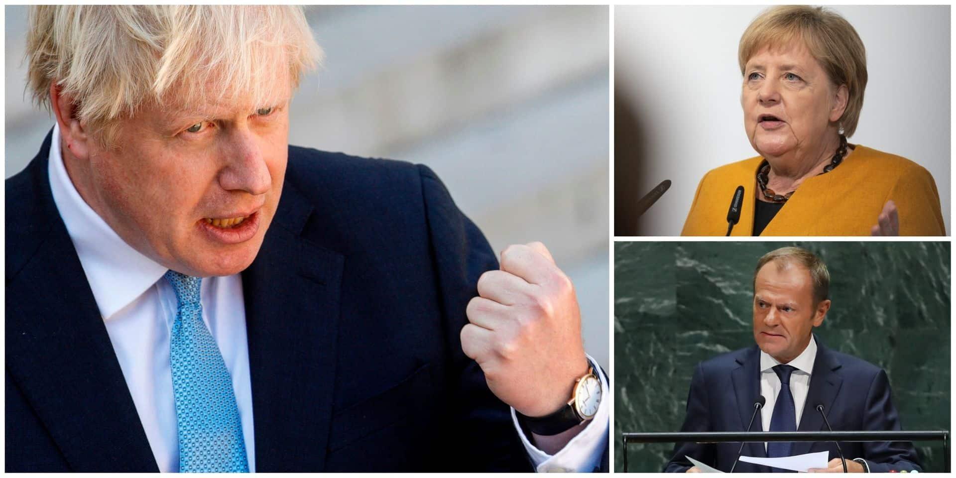 "Brexit: Merkel met en garde Johnson, Tusk dénonce un ""stupide jeu"""